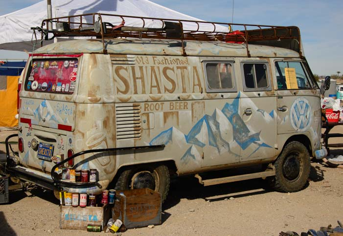 Shasta Root Beer Volswagon van