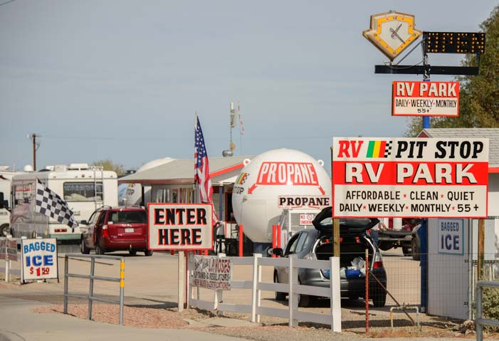RV Pit Stop in Quartzsite Arizona