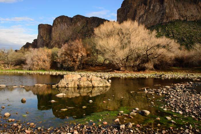 Views along the Salt River near Phoenix Arizona