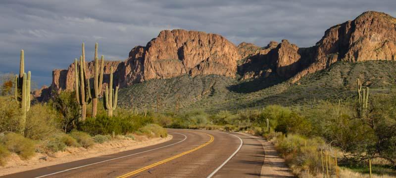 Bush Highway Scenic Drive in Phoenix Arizona