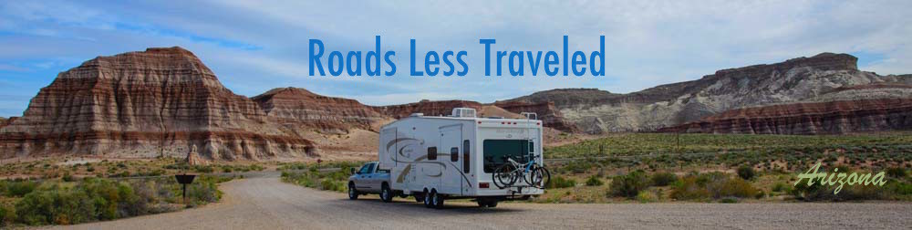 Fifth wheel RV trailer at Paria Canyon Arizona