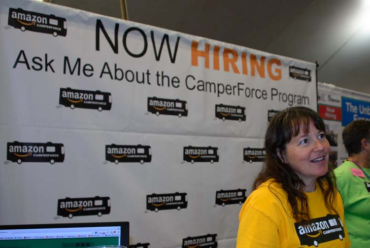 Amazon CamperForce booth at the Quartzsite Arizona RV Show