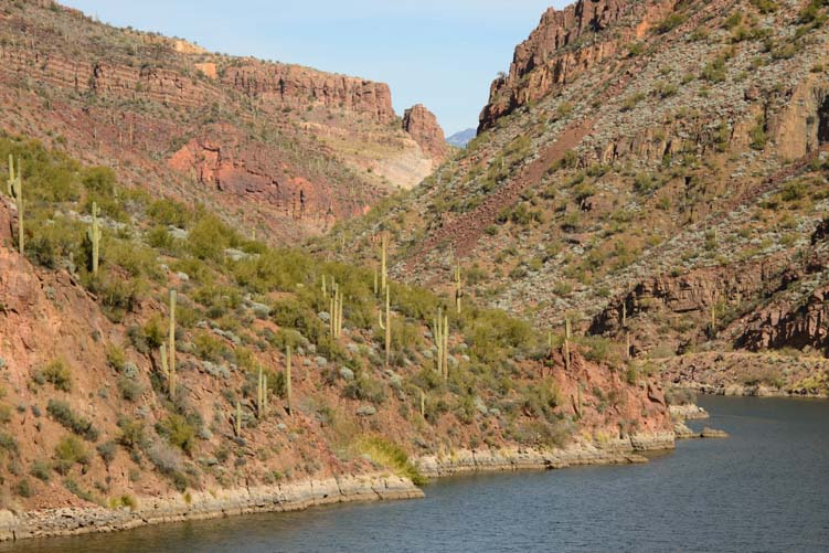 Salt River views along the Apache Trail from Apache Junction to Roosevelt Lake Arizona