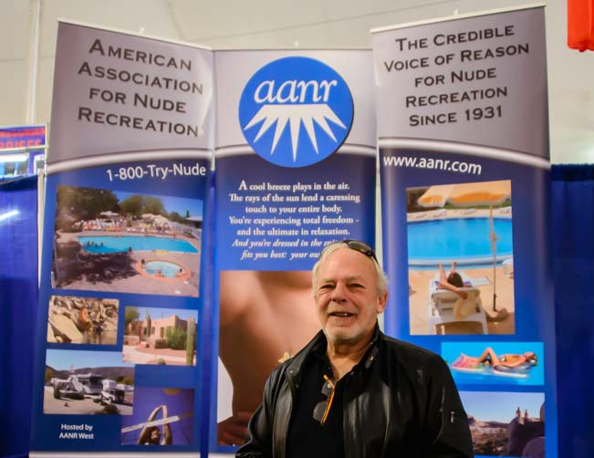 American Association for Nude Recreation booth at the RV show