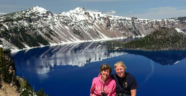 Mark and Emily at Crater Lake Oregon
