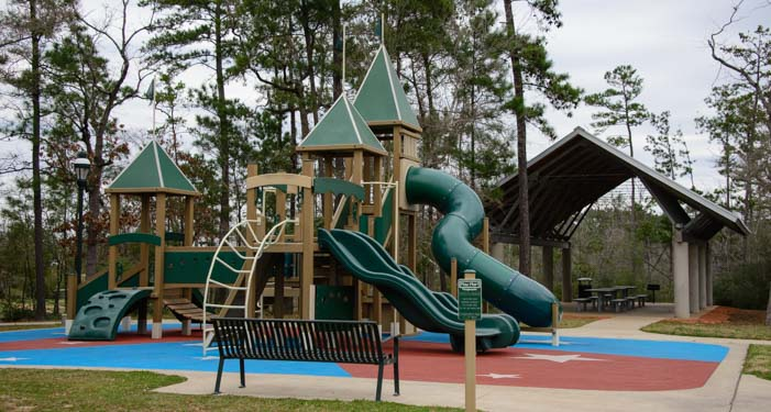 Texas Interstate Rest Area Playground and picnic area