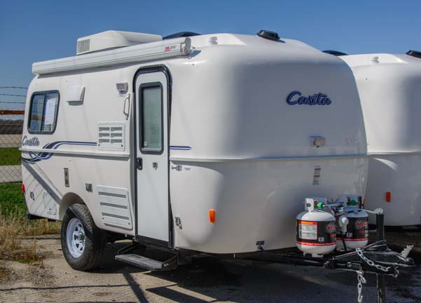 Casita travel trailer on the dealer lot