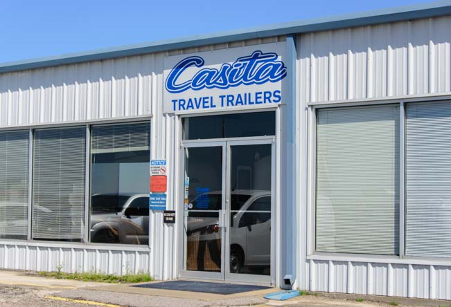 Casita Travel Trailers front door