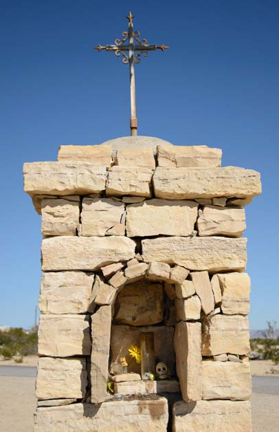 Shrine in Terlingua Ghost Town Cemetery Big Bend Texas