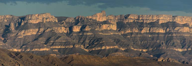 Sierra del Carmen mountains in Big Bend National Park Texas
