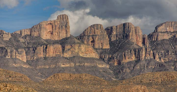 Sierra del Carmen mountains in Big Bend