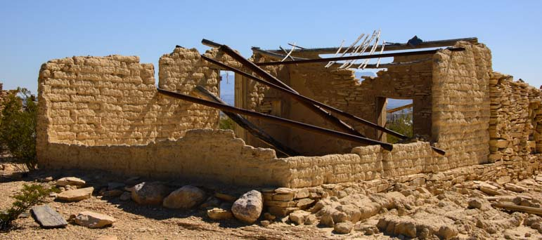 Ruins in Terlingua Ghost Town Texas