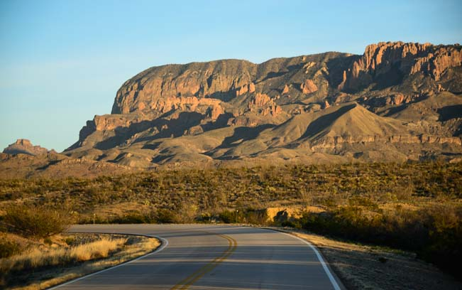 Scenic drives in Big Bend National Park Texas