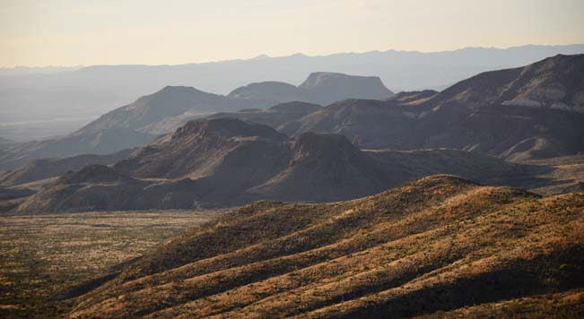 Mountain scenery in Big Bend