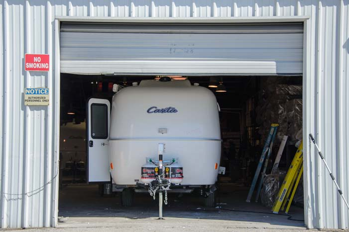 Casita Travel Trailer at the factory