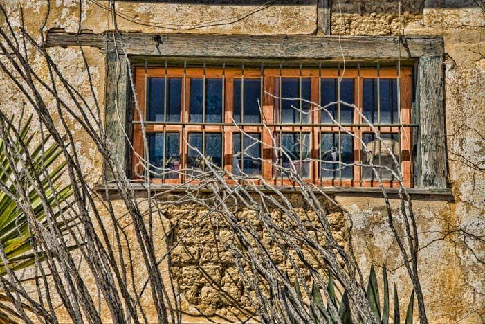 Old stone building Terlingua Texas