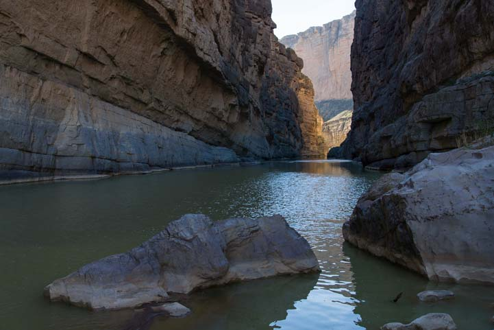 Rio Grande at Santa Elena Canyon iin Big Bend Texas