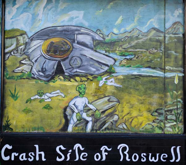 UFO spaceship crash site of Roswell