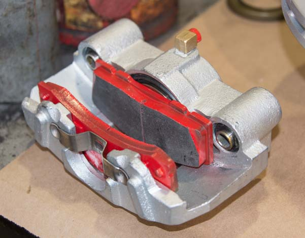 Kodiak trailer disc brake caliper with brake shoes