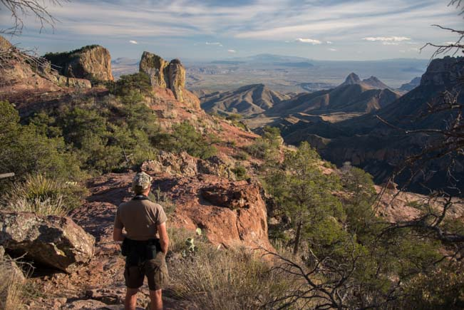 At the summit of the Lost Mine Hike Big Bend National Park