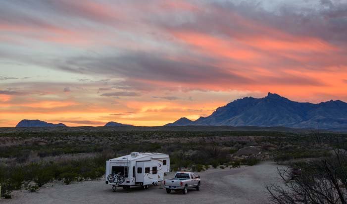 RV Camping at Big Bend National Park Texas