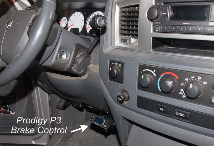 Prodigy P3 Brake Control installed on a Dodge RAM 3500_