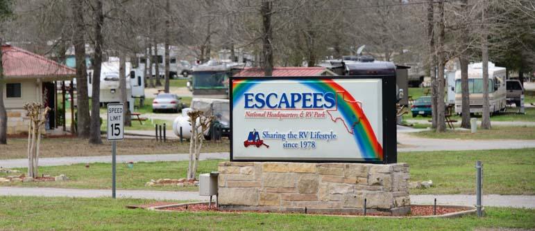 Sharing the RV Lifestyle Escapees RV Park Livingston Texas