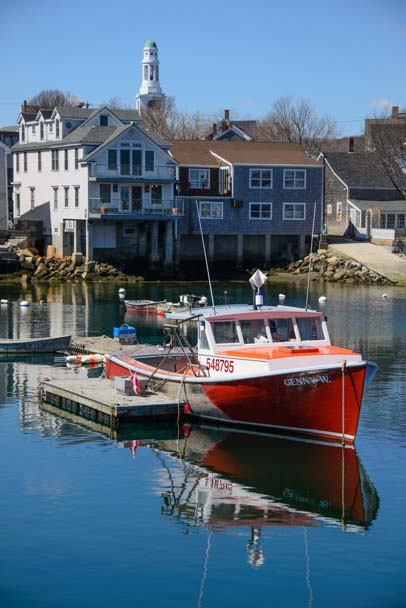 Lobster boats Rockport Harbor Massachusetts