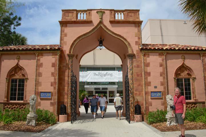 Ringling Museum entrance Sarasota Florida