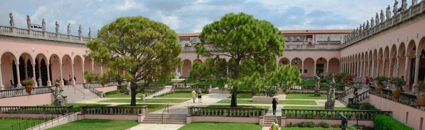 Ringling Art Museum Courtyard Sarasota Florida