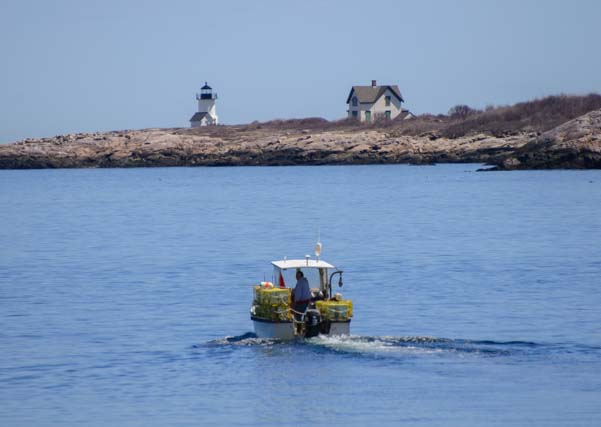 Lobster boat Straightsmouth Island Rockport Mass