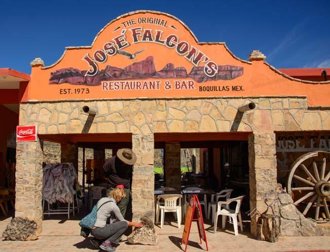 Jose Falcon's Restaurant Boquillas del Carmen Mexico