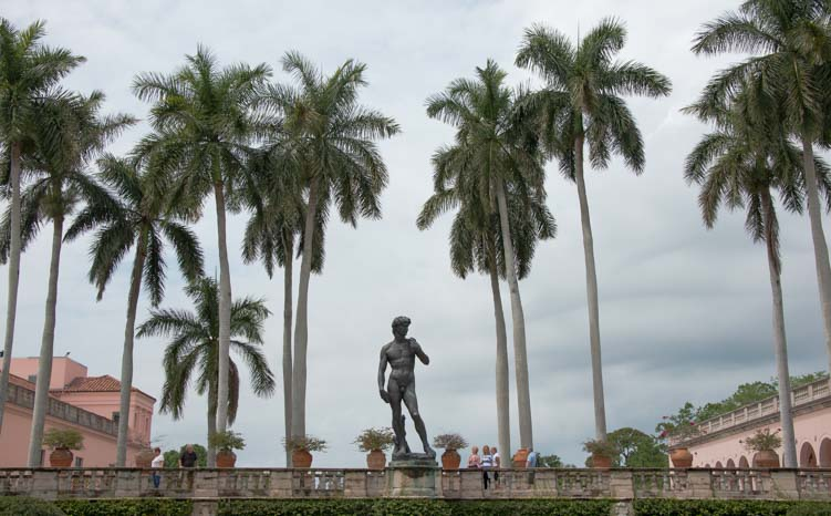 Replica of Michaelangelo David statue Ringling Museum