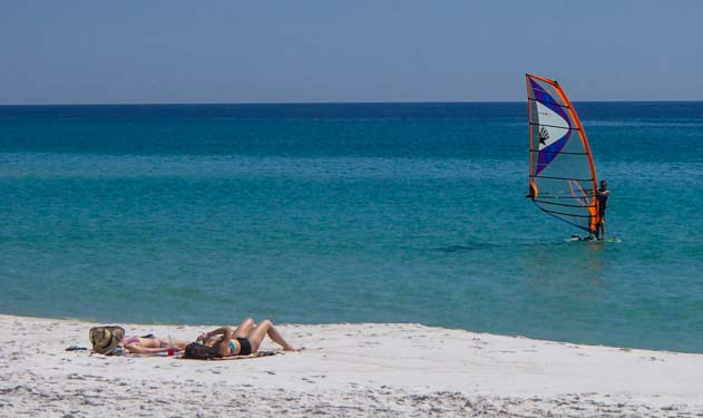 Windsurfing on Pensacola Beach Florida