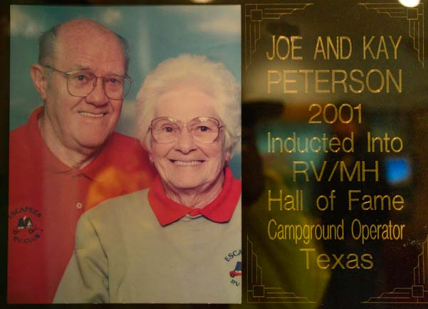 Joe and Kay Peterson RV - MH Hall of Fame