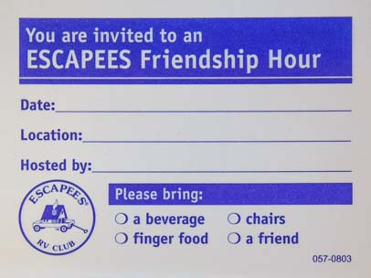 Escapees RV Club Friendship Hour Pad 2