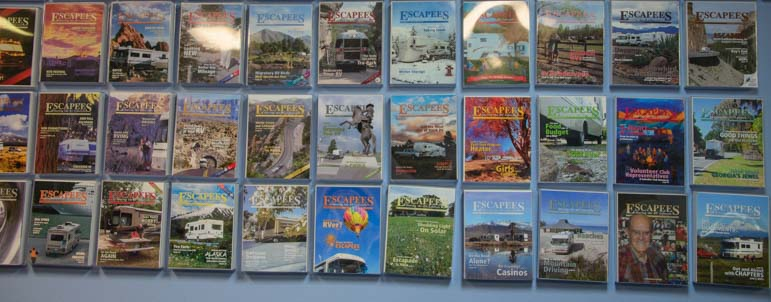 Escapees Magazine covers