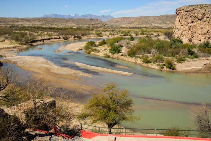 Rio Grande River (Rio Bravo River) Boquillas del Carmen Mexico