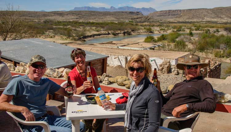 Lunch deck Jose Falcon's Boquillas del Carmen Mexico Big Bend National Park Texas