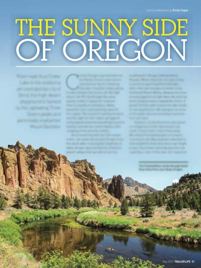 The Sunny Side of Oregon Trailer Life Magazine May 2015