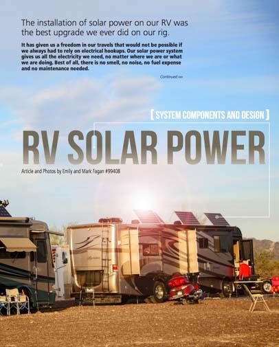 RV Solar Power Escapees Magazine May-Jun 2015