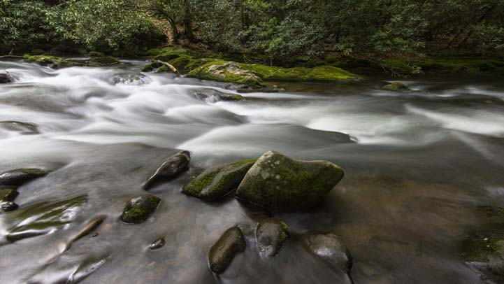 Oconaluftee River Great Smokies Mountain National Park North Carolina