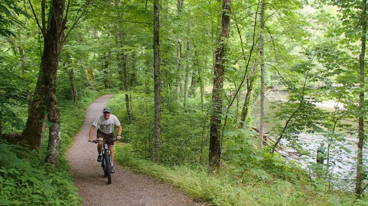 Biking Oconaluftee River Trail Great Smoky Mountains National Park
