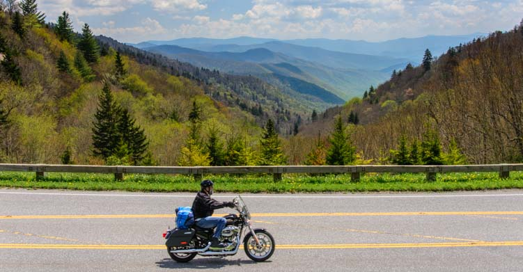 Motorcycle Smoky Mountains