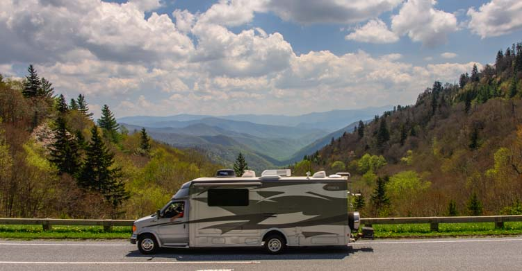 Motorhome RV Smoky Mountains
