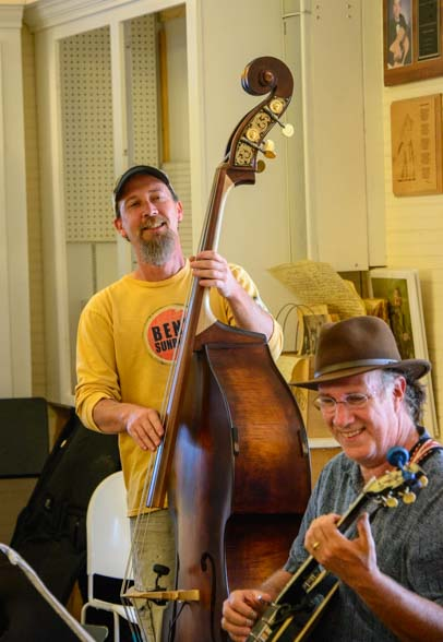 Bluegrass music on standup bass and guitar
