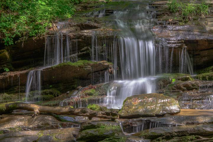Indian Creek Waterfall Deep Creek Hiking Trail Great Smoky Mountains National Park N. Carolina