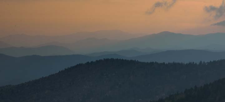 Smoky Mountains at dusk