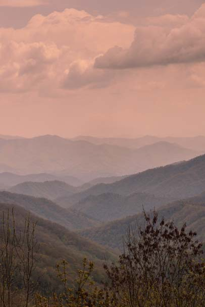 Mountain layers in the Smokies