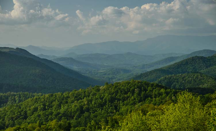 Blue Ridge Parkway mountain views